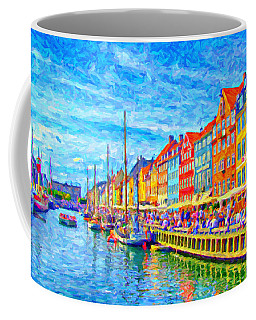 Nyhavn In Denmark Painting Coffee Mug