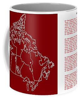 O Canada Lyrics And Map Coffee Mug