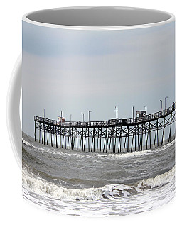 Oak Island Beach Pier Coffee Mug