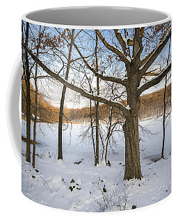 Oak Tree In Snow I Coffee Mug