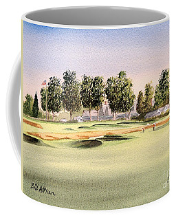 Coffee Mug featuring the painting Oakmont Golf Course 14th by Bill Holkham