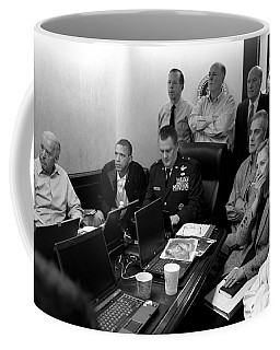 Obama In White House Situation Room Coffee Mug