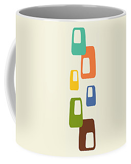 Coffee Mug featuring the digital art Oblongs by Donna Mibus