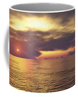 Coffee Mug featuring the digital art Ocean 2 by Mark Greenberg