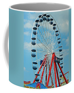 Coffee Mug featuring the photograph Ocean City Md Ferris Wheel by Emmy Marie Vickers