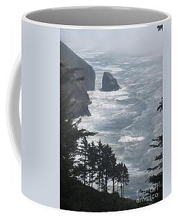 Coffee Mug featuring the photograph Ocean Drop by Fiona Kennard