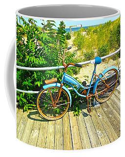 Coffee Mug featuring the photograph Ocean Grove Bike by Joan Reese