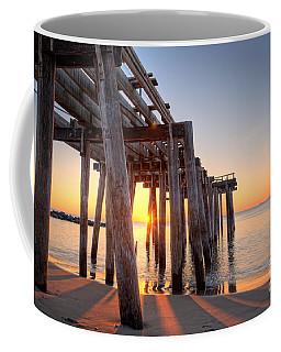 Ocean Grove Pier Sunrise Coffee Mug by Michael Ver Sprill