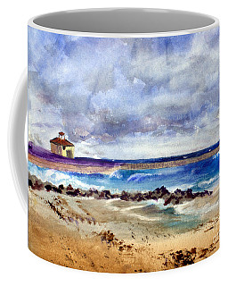 Ocean  Inlet Beach In Boynton Beach Coffee Mug by Donna Walsh