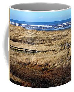 Ocean Shores Boardwalk Coffee Mug by Jeanette C Landstrom