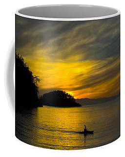 Coffee Mug featuring the photograph Ocean Sunset At Rosario Strait by Yulia Kazansky