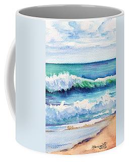 Ocean Waves Of Kauai I Coffee Mug by Marionette Taboniar