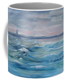 Coffee Mug featuring the painting Oceans Of Color by Diane Pape