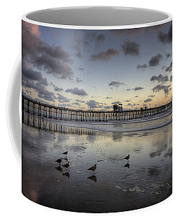 Oceanside Pier Birds Coffee Mug