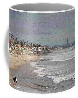 Oceanside South Of Pier Coffee Mug by Tom Janca