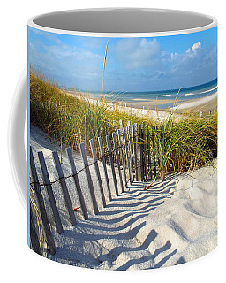 Coffee Mug featuring the photograph October Beach by Dianne Cowen