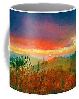 October Sunrise Painting On The Blue Ridge Parkway Coffee Mug