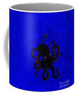 Octopus Black And Blue Coffee Mug