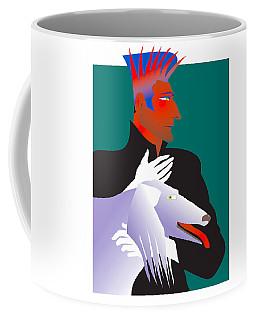 Odd Man With Dog Coffee Mug