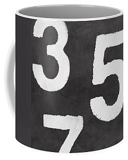 Odd Numbers Coffee Mug by Linda Woods