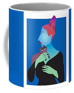 Odd Woman With Cat Coffee Mug