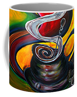 Ode To Coffee... Coffee Mug by Jolanta Anna Karolska