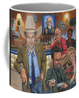 Ode To Justified Coffee Mug by Mark Tavares