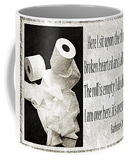 Coffee Mug featuring the photograph Ode To The Spare Roll Bw 2 by Andee Design