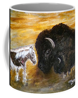 Coffee Mug featuring the painting Of Proud Heritage by Barbie Batson