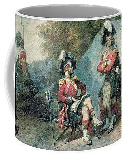 Officers Of The 79th Highlanders At Chobham Camp In 1853 Coffee Mug