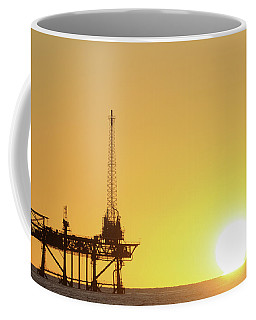 Offshore Oil Rig And Sun Coffee Mug