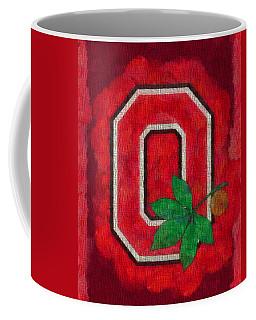 Ohio State Buckeyes On Canvas Coffee Mug by Dan Sproul