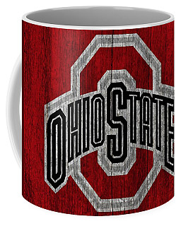 Ohio State University On Worn Wood Coffee Mug