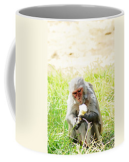 Oil Painting - A Monkey Eating An Ice Cream Coffee Mug
