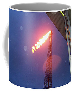 Coffee Mug featuring the photograph Oil Platform Flare Boom During Hurricane Cindy Off The Coast Of Louisiana In The Gulf Of Mexico by Michael Hoard