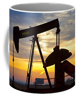 Oil Pump Sunrise Coffee Mug