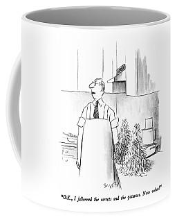 O.k., I Julienned The Carrots And Potatoes.  Now Coffee Mug