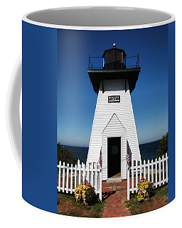 Coffee Mug featuring the photograph Olcott Ny Lighthouse - Replica by John Freidenberg