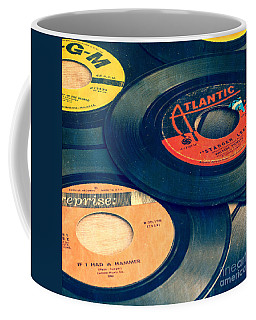 Old 45 Records Square Format Coffee Mug