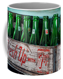 Old 7 Up Bottles Coffee Mug by Thomas Woolworth