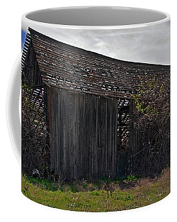 Coffee Mug featuring the photograph Old Barn In Country Landscape Art Prints by Valerie Garner