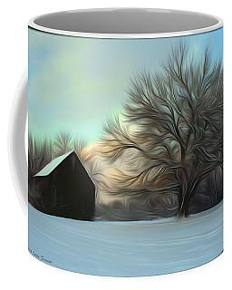 Old Barn In Snow Coffee Mug