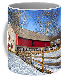 Old Barn In Winter Coffee Mug