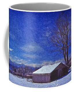 Old Barn In Winter Coffee Mug