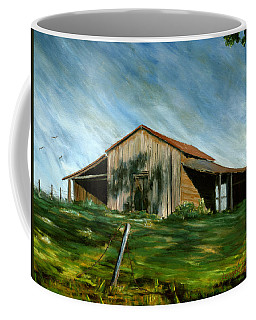Old Barn Landscape Art Pleasant Hill Louisiana  Coffee Mug
