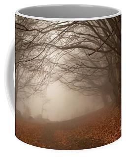 Old Beech Trees In Fog Coffee Mug