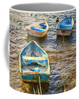 Coffee Mug featuring the photograph Old Bermuda Rowboats by Verena Matthew