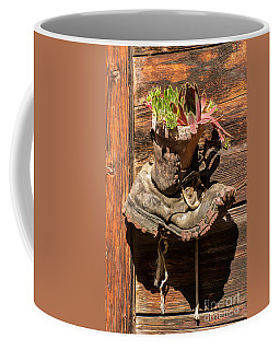 Old Boot Potted Plant - Swiss Alps Coffee Mug