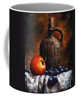 Old Bottle And Fruit Coffee Mug