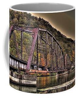 Coffee Mug featuring the photograph Old Bridge Over Lake by Jonny D